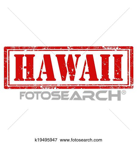 Clip Art Of Hawaii Stamp K19495947