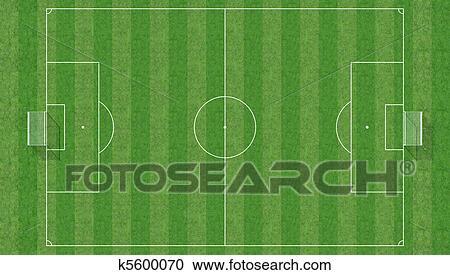 Luftaufnahme Von A Fussball Feld 3d Ubertragung Clipart