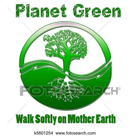 Drawings Of Planet Green Mother Earth K5601254 Search Clip Art