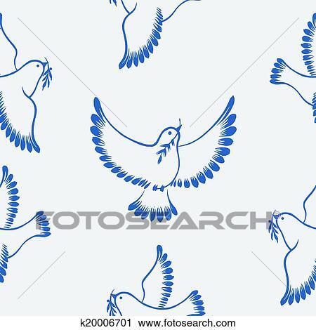 Clipart - seamless, patrón, paloma, paz k20006701 - Buscar Clip Art ...
