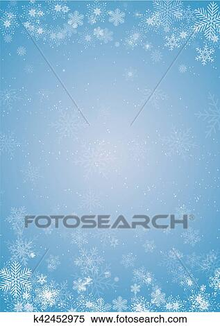 winter blue christmas background with snowflake border clipart k42452975 fotosearch https www fotosearch com csp560 k42452975