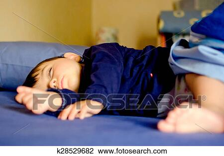 clip art of baby girl sleeping in the bed k28529682 search clipart