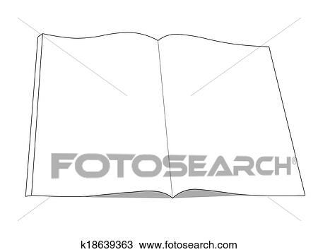 Livre Dessin Icone Livre Ouvert A Isole Blanc Banque D Image