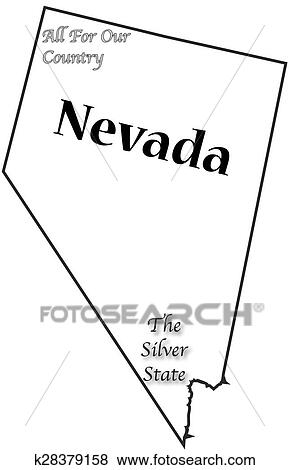 Nevada State Motto And Slogan Clip Art K28379158 Fotosearch