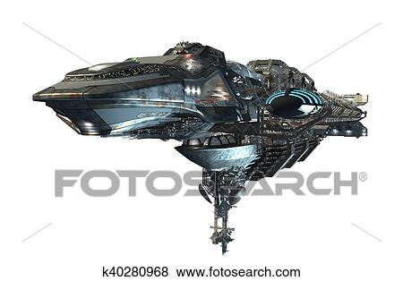 3d Intergalactic 宇宙船 イラスト K40280968 Fotosearch