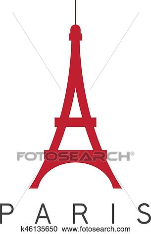 clipart of eiffel tower paris france vector design template