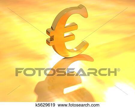 Euro Devise Signe Banque D Illustrations