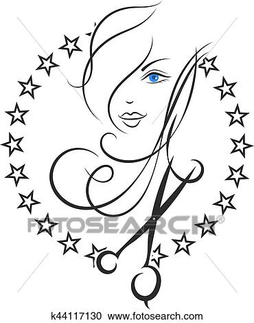 Clipart Of Symbol Of Beauty And Hair Salon K44117130