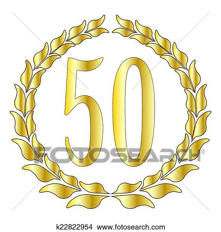 50th Aniversario Clipart K22822954 Fotosearch