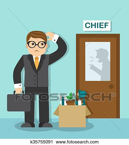 Clipart Of Employee Dismissal K35755091
