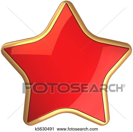 Clipart Of Red Star From Russia K5630491 Search Clip Art