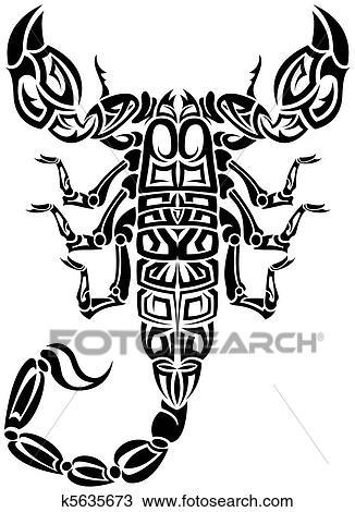 Clipart Scorpion Tribal K5635673 Recherchez Des Clip Arts Des