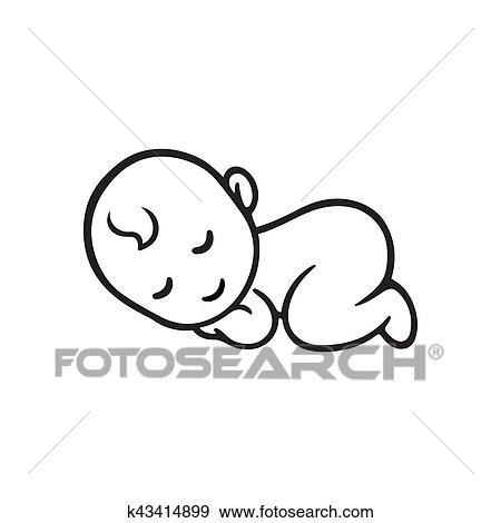 Sleeping Baby Silhouette Clip Art