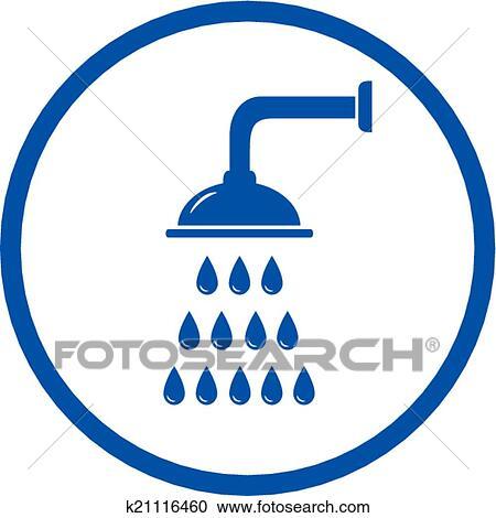 Duschkopf clipart  Clipart - blaues zeichen, mit, duschkopf k21116460 - Suche Clip Art ...