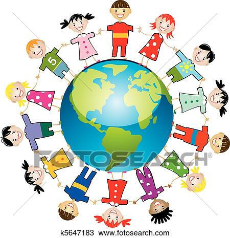 clipart of children around the world k5647183 search clip art rh fotosearch com