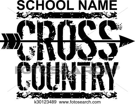 clip art of cross country k30123489 search clipart illustration rh fotosearch com cross country clip art vector cross country clip art templates