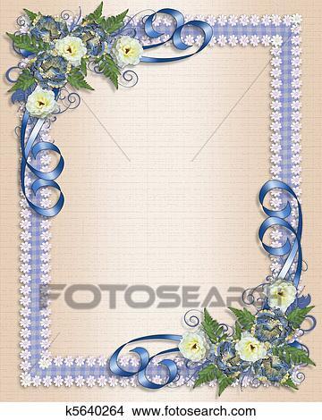 Zeichnungen Hochzeitskarten Blau Blumen K5640264 Suche Clip
