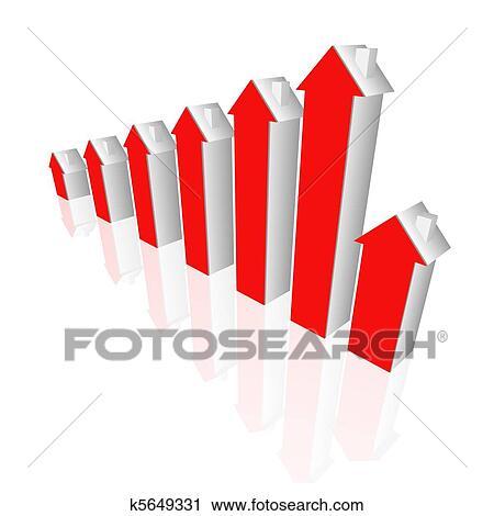 Clipart - immobilien, diagramm k5649331 - Suche Clip Art ...