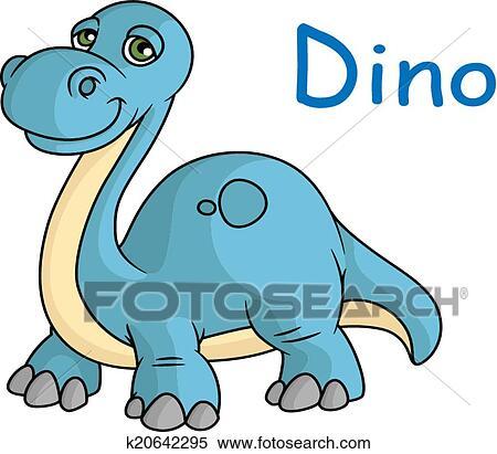 Lustig Blau Dino Clipart