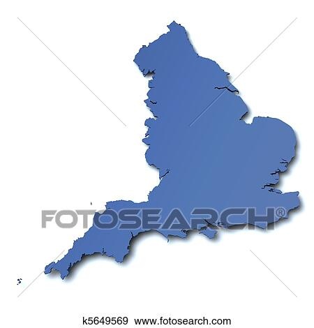 Stock Illustration Of Map Of England Uk K5649569 Search Vector