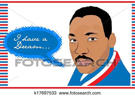 drawing of martin luther king jr i have a drea k17697533 search