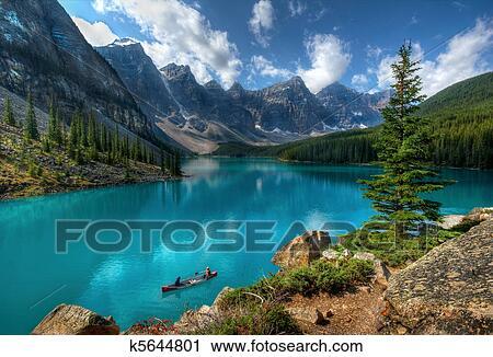 Moraine Lake Banff National Park Stock Image K5644801