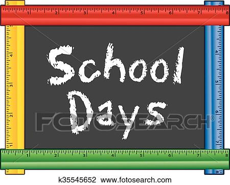 clipart of school days ruler frame k35545652 search clip art rh fotosearch com first school day clipart school picture day clipart