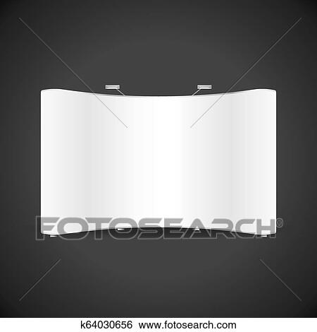 Exhibition Stand White : Vector exhibition stand booth mockup clip art k fotosearch