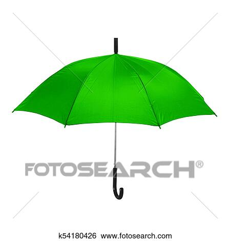 diseño exquisito buscar auténtico venta más caliente Aislado, paraguas verde, en, fondo blanco Colección de fotografía