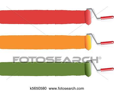 Clipart Farbe Farbrolle K5650580 Suche Clip Art Illustration