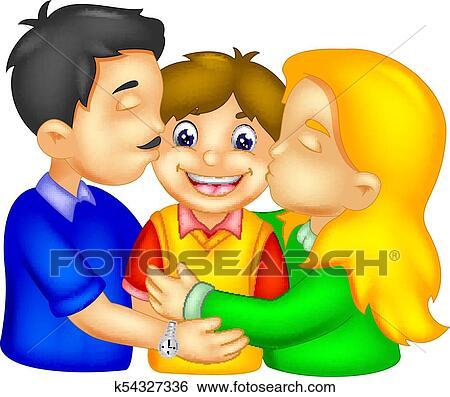 Happy Family Cartoon Clip Art K54327336 Fotosearch