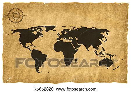 Stock illustrations of old world map k5652820 search clipart old world map gumiabroncs Choice Image