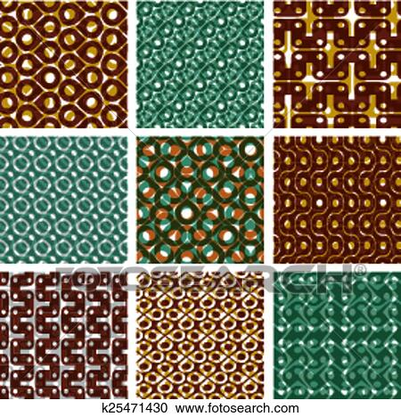 c04abc6e6b Set, di, variopinto, grattugiare, seamless, modelli, con, parallelo, nastri,  e, geometrico, figure, trasparente, simmetrico, luminoso, ondulato, tegole,  ...