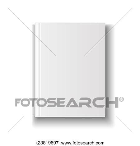 stock illustration of blank book cover template on white background
