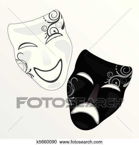Clipart Karneval Schablone K5660090 Suche Clip Art Illustration