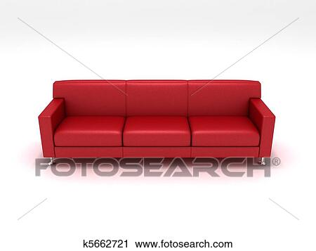 Clipart Of Red Sofa K5662721 Search Clip Art Illustration Murals