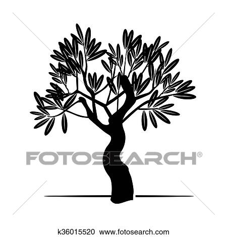 Vector Black Olive Tree Clipart K36015520 Fotosearch
