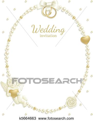 Clipart of Wedding jewel frame k5664663 - Search Clip Art ...