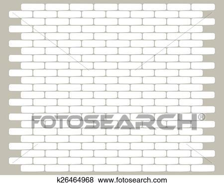 Brique Blanche, Mur, Texture Clipart