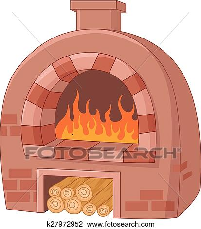 clipart of cartoon traditional oven k27972952 search clip art