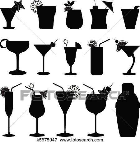 Clip Art of Cocktail D...