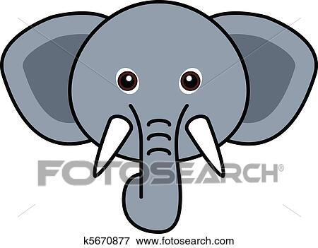 clip art of cute elephant vector k5670877 search clipart rh fotosearch com elephant vector clipart elephant vector clipart
