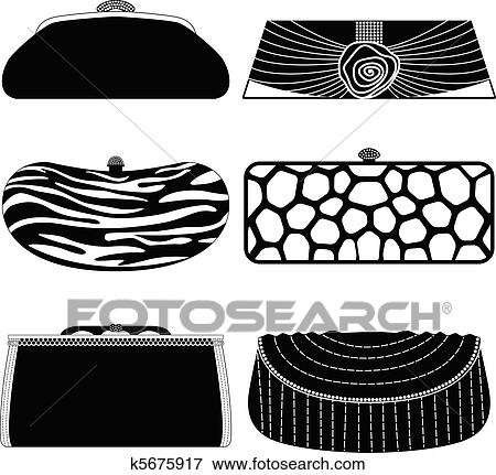Clip Art of Female Bag Handbag Purse Woman k5675917 - Search Clipart ... 332bb20183