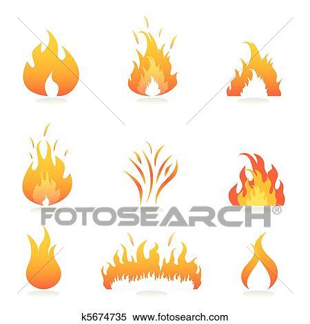 Set Feuer Flamme - Download Kostenlos Vector, Clipart Graphics,  Vektorgrafiken und Design Vorlagen