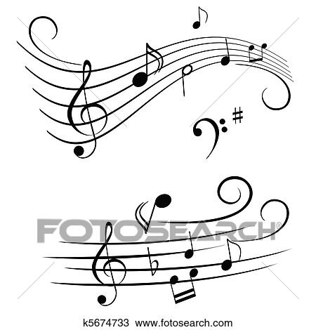 Clipart of musical notes on stave k5674733 search clip for Note musicali dwg