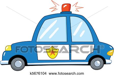 clipart of police car cartoon k5676104 search clip art rh fotosearch com clip art compare clip art coca cola