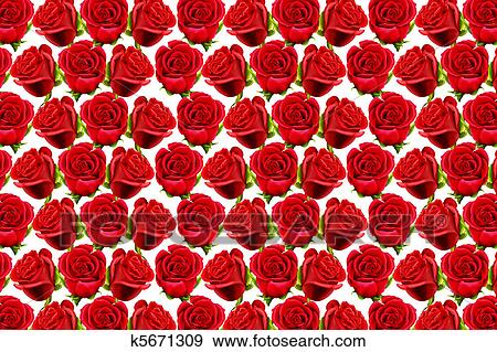 Roses Pattern To Form A Wallpaper Stock Illustration