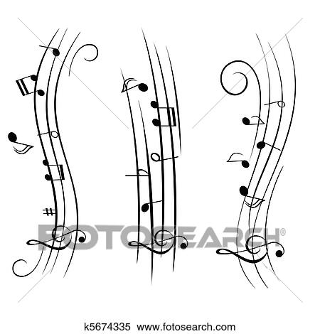 Clipart of sheet music musical notes k5674335 search for Note musicali dwg