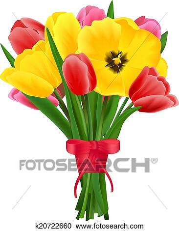 Tulipe Bouquet Fleur Clipart