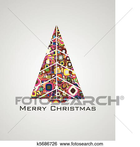 Abstract Christmas Tree Images Clip Art